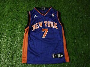 NEW YORK KNICKS USA # 7 FRYE BASKETBALL SHIRT JERSEY ADIDAS ORIGINAL YOUNG S