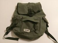"""Skechers Army Green Backpack 4 Pocket Draw/Snap NWOT 11""""L X 6""""W x16""""T-A01"""