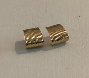 1980s 9ct Gold Earrings 5.2g