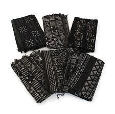 Authentic Mud Cloth Bambara Fabric - Black and White
