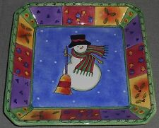 Sango SWEET SHOPPE CHRISTMAS Sue Zipkin Design SQUARE CANDY DISH