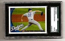 Clayton Kershaw Los Angeles L.A. Dodgers 2010 Topps #10 SGC 88 NM/MT 8