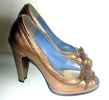 MARC BY MARK JACOBS Women's METALLIC Leather Shoes/PLATFORMS/Sz 38/ITALY/ELEGANT