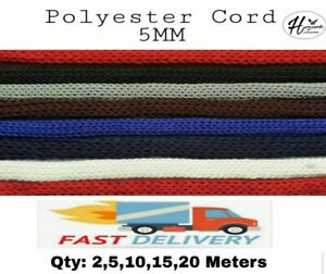 POLYESTER 5MM DRAWSTRING CORSET LEGGING LACING SHOES PULL CORD HOODIES BAGS