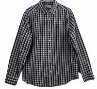 Original Penguin Classic Fit Button Front Shirt Mens Size L Long Sleeve Plaid