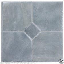 60 x Vinyl Floor Tiles - Self Adhesive, Bathroom Kitchen, Steel Blue Classic 180