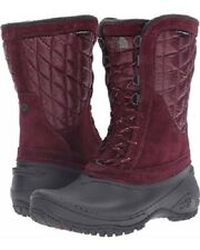 The North Face Women's Boots Thermo Utility Mid Deep Garnet Red Snow Shoes 6 New