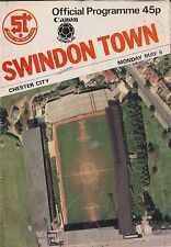 Football Programme>SWINDON TOWN v CHESTER CITY May 1985