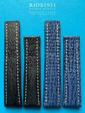 Haifisch Bracelet de Montre 22/20mm Notamment Breitling Fasltschliesse Noir