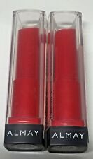 LOT of (2) Almay Smart Shade Butter Kiss Lipstick .09 Oz #80 RED Light-Medium