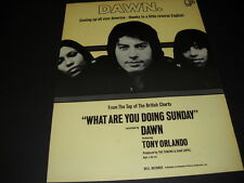 Tony Orlando And Dawn A Little Reverse English 1971 Promo Poster Ad mint cond