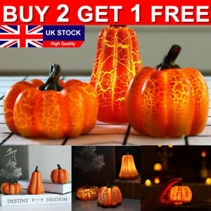Halloween Party Props Outdoor Decor Resin Pumpkin Simulation LED Candle Lights