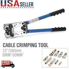 Large Wire Terminal Crimping Tool 6-50mm² Cable Lug Crimper Cu/Al Terminal Plier