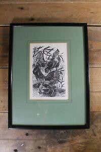 Vintage Leslie C Benenson 'Bantams' 42/50 Limited Signed Woodcut Print 1966