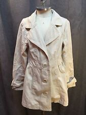 Girls Justice Sz 8 Lightweight Cotton Twill Spring Tan Beige Jacket Coat