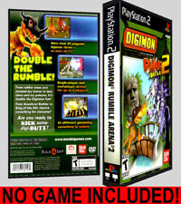 Digimon Rumble Arena 2 - PS2 Reproduction Art DVD Case No Game