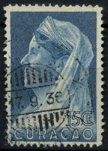 Curacao 1936-9 SG#163, 15c Blue Queen Wilhelmina Used #D43883