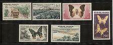 BUTTERFLY, TOBACCO, SUGAR CANE, BRIDGE ON MALAGASY 1960 Scott C61-C66 MNH