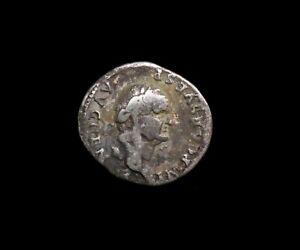 #59,Roman Empire Vespasian AR Denarius.