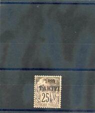 TAHITI Sc 25(YT 27)*VF LIGHT HR 1893 25c BLACK/ROSE $125