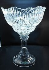 "Shannon Crystal Large  Crystal Pedestal Bowl, Compote, Centerpiece 15"" Tall"