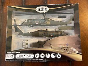 Testors 1/60 Scale UH-60 Black Hawk Helicopter Model Kit Sikorsky Helicopter