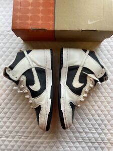 Vintage Nike Dunk High Obsidian/white Size 10 DS Very Rare. 2001