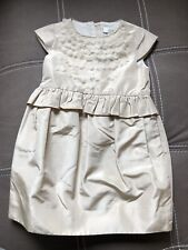 NWT Girls Crewcuts Dress Gray Silver Ruffles Cotton Sz 2 $49