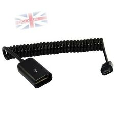 1M 3FT Spiral Coiled USB 2.0 A Female Jack to Micro 5Pin Male Plug Adapter Cable