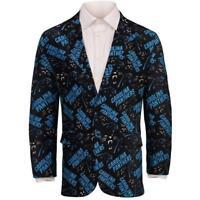 Carolina Panthers NFL FoCo Men's Repeat Logo Ugly Business Jacket Size 50-XXL