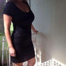 NEW ISAAC MIZRAHI Women's BLACK Dress Size Medium Dressy Black Polyester Spandex