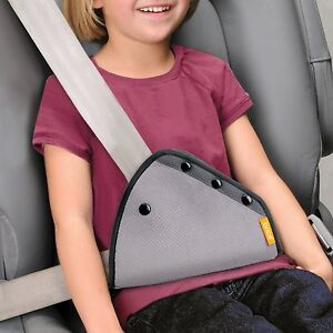 Brica Seat Belt Adjuster Pack in Grey By Munchkin Brand New Free Shipping!!