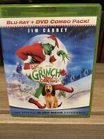 How the Grinch Stole Christmas Blu-ray + DVD Jim Carrey Dr. Seuss