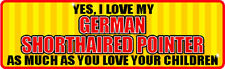 Yes I Love My German Shorthaired Pointer Sticker