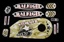 """Decal set pour Raleigh Stormer 14 """"kaki camouflage réservoir autocollant Costume vélos enfants"""