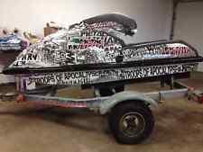 kawasaki 650 sx jet ski wrap graphics pwc stand up jetski decal kit racing metal