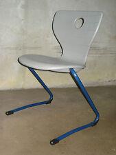 20Verner PANTON Designer Stuhl Pantoflex Freischwinger Stahlrohr Kunststoff grau