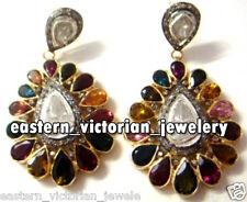 Artdeco Estate 2.55cts Rose Antique Cut Diamond Gemstone Silver Jewelry Earring
