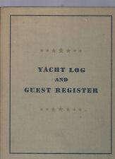 yacht log and guest register -giornale di bordo ddello yacht ziguela- braghieri
