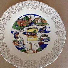Minnesota State Souvenir Plate, Land of 10,000 Lakes