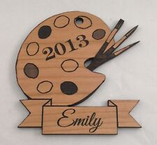 Personalized Painting/Artist Tools Wooden Christmas Ornament (FREE SHIPPING)