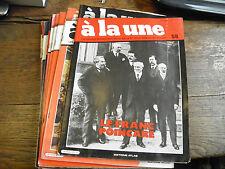 lot de 11 magazines à la une grands évènements et journaux de l'époque