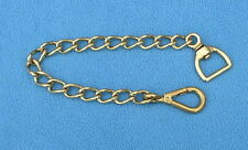 "18"" Heavywt Brass Stallion Chain Walsall Clip In Hand Control Welsh Cob Horse"