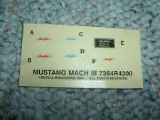 Revell Monogram Decals Mustang Mach III A.