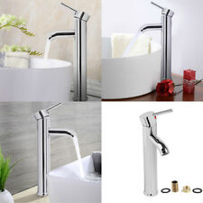 Durable Mono Mixer Tap Tall Handel Bathroom Sink Basin Faucet Chrome Brass UK