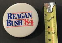 "Vintage Ronald Reagan George Bush '84 1.5"" Political Pin Button pin3065"
