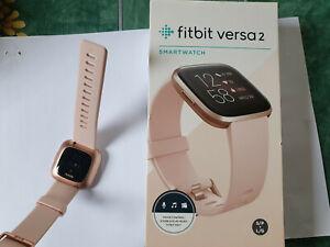Fitbit Versa 2 traqueur d'activité - Rose pétale/Rose cuivré