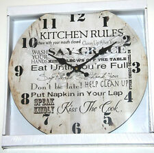 Wall Clock - KITCHEN RULES Design (34cm)