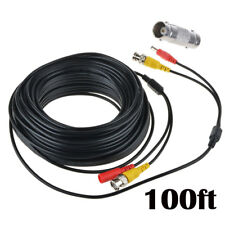 100ft BNC Video Power Wire Cord for Zmodo Q-See Qsee PTZ Lorex Camera Cable