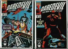Daredevil Vol. 1 (1964-2011)  #292 #293  with 'THE PUNISHER'  NM  ref:A3.324